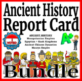 Ancient History Report Card Activity Differentiated Readin