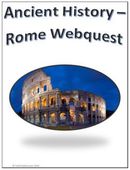 Ancient History - Rome Webquest for Google Apps - Internet Activity