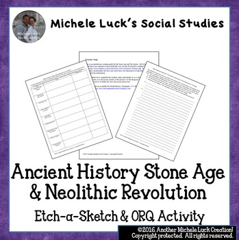 Ancient History Stone Age & Neolithic Revolution Etch-A-Sketch & ORQ