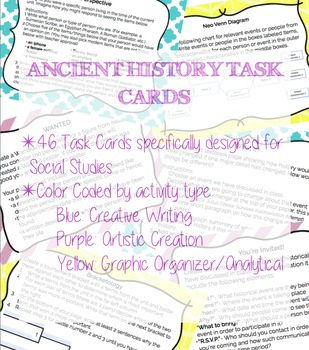 Ancient History Task Card Pack