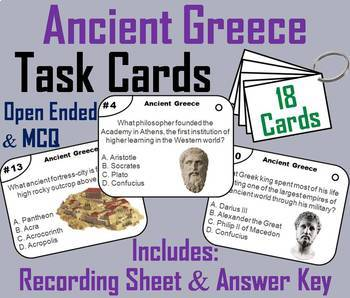 Ancient Civilizations Task Cards Bundle: China, Egypt, Greece, India, Rome, etc.