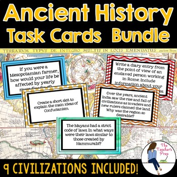 Ancient History Task Cards Mega Bundle