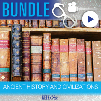 Ancient History - Video & Activities Bundle! Prehistory, Greece, Egypt