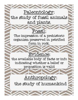 Ancient History Vocab Cards