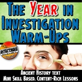 Ancient History Warm-Ups Bundle: Skill-Based,Content Mini Lessons & Bell Ringers