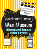 Ancient History Wax Museum 3-5 CCSS Aligned with Different