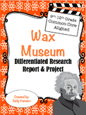Wax Museum Biography Research 9-12 CCSS Aligned with Differentiated Options