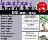 Ancient Civilizations Word Wall Bundle