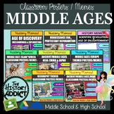 Ancient History and Middle Ages Classroom Posters (Meme) M