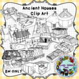 Ancient Houses Clip Art