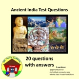 Ancient India 20 Question Quiz