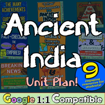 Ancient India World History Unit: 9 engaging activities to teach Ancient India!