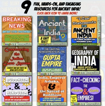 Ancient India World History Unit   9 engaging activities to teach Ancient  India!