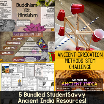Ancient India Activities Resource Bundle