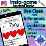 Ancient India Activity - Instagram (Editable Insta-game)