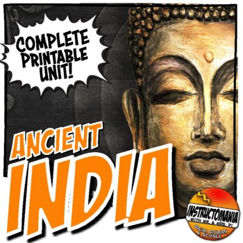 Ancient India Activity and Note Bundle Common Core Grades 5-8