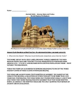 Ancient India – Aryans, Epics & Vedas