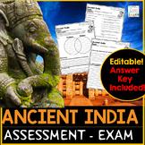 Ancient India Test Assessment | Ancient India Exam Google Slides