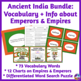 Ancient India BUNDLE: Vocabulary & Charts about Empires, R