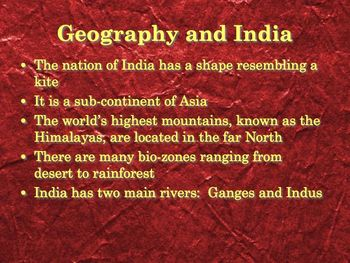 Ancient India - Buddhism-Hinduism PowerPoint for High School Ancient History