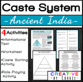 Ancient India Caste System- 4 Activities: Reading Handout,