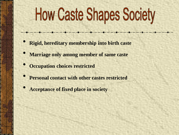 Ancient India Caste System Power Point