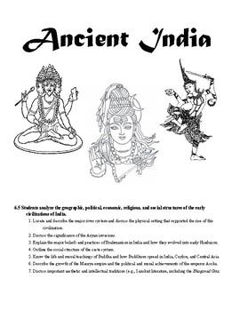 Ancient India, China, and North America Interactive Notebook
