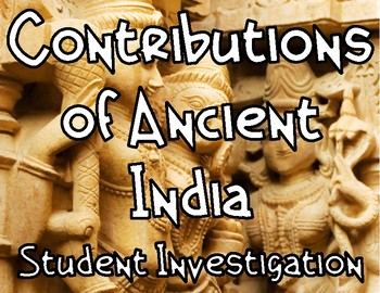 Ancient India: Contributions