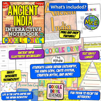 Ancient India DIGITAL Interactive Notebook! Google Drive INB for Ancient India!