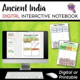 Ancient India DIGITAL Interactive Notebook Unit World History