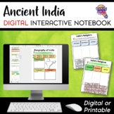 Ancient India DIGITAL Interactive Notebook Unit Distance Learning