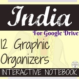 Ancient India Digital Interactive Notebook Graphic organizers