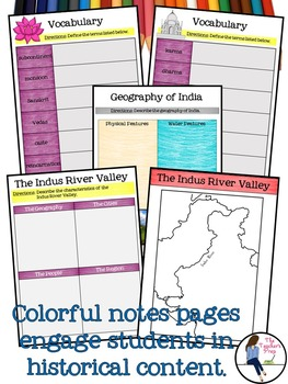Ancient India Digital Interactive Notebook for Google Drive