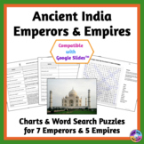 Ancient India Emperors and Empires: Charts for Reading & Writing, Word Searches