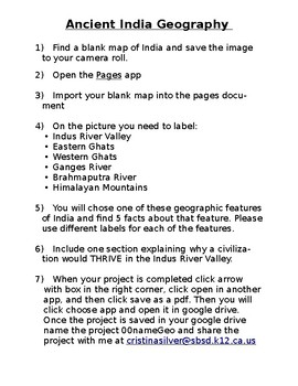 Ancient India Geography Project