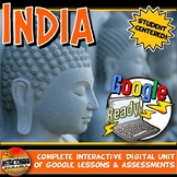 Ancient India Google Classroom Unit Plan Lessons & Activities: Distance Learning