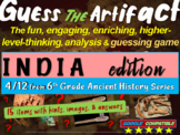 "Ancient India ""Guess the artifact"" game: PPT w pictures & clues"