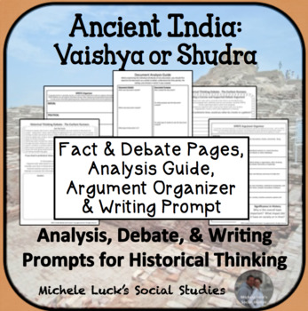 Ancient India Indian Caste System Class Debate Historical Thinking Activity