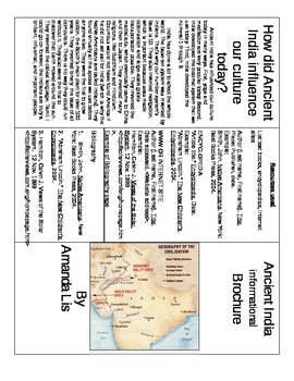Ancient India Informational Brochure