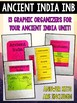 Ancient India Interactive Notebook Graphic Organizers