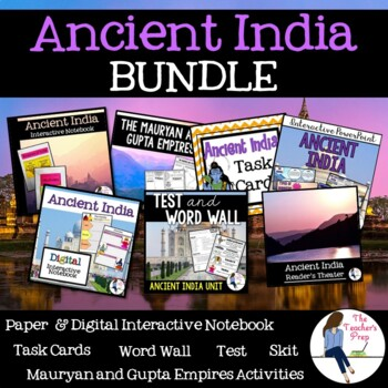 Ancient India Interactive Notebook and Task Cards Bundle