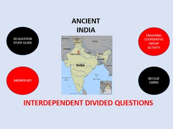 Ancient India: Interdependent Divided Questions Activity