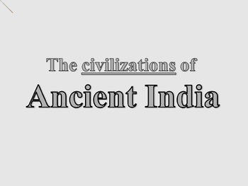 Ancient India Introduction PowerPoint