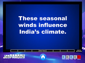 Ancient India: Jeopardy Game