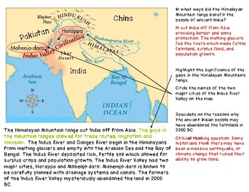 Ancient India: Location and Importance of Himalayan Mt., and Indus and Ganges