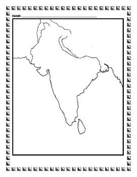 Ancient India Map Activity