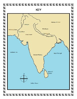 Ancient India Map Activity by Craig Mellen | Teachers Pay Teachers