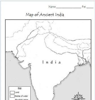 Ancient India   Map Activity by Mr C shop | Teachers Pay Teachers