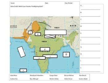 Ancient India Map Quiz by Middle School World History | TpT