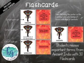Ancient India Memory Game and Flashcards {Harappa, Maurya, Gupta}
